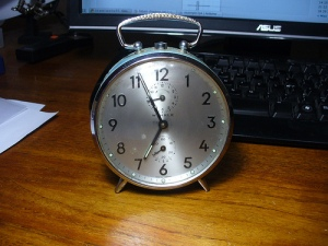 bluesilver clock